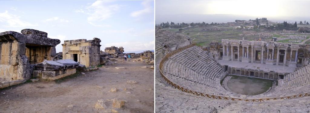 Pamukkale Gräber und Amphitheater