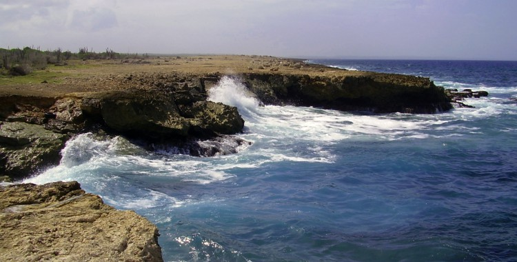 Curacao wilde Küste